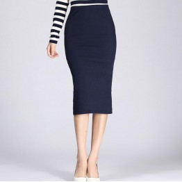 New Long Pencil Skirt with Slit in Back