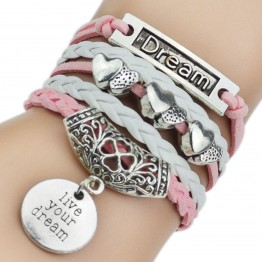 7 Colours New Fashion Leather Bracelets & Bangles