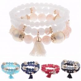 3Pcs High Quality Charm Beads Bracelet Set