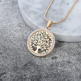 Elegant Tree of Life Crystal Pendant Necklace