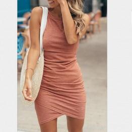 Summer Sleeveless Ruched Tank Dress