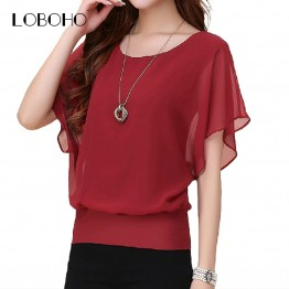 New Ruffle Short Sleeve Casual Shirt