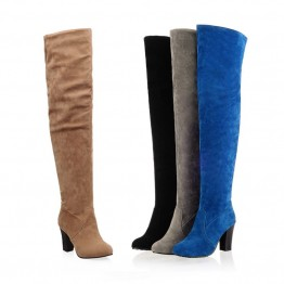 New high Quality Over-the-Knee Suede High Heel Boots