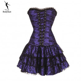 corset dress Slimming overbust waist corsets and bustiers sexy steampunk clothing gothic corset Lose Weight Shaper burlesque